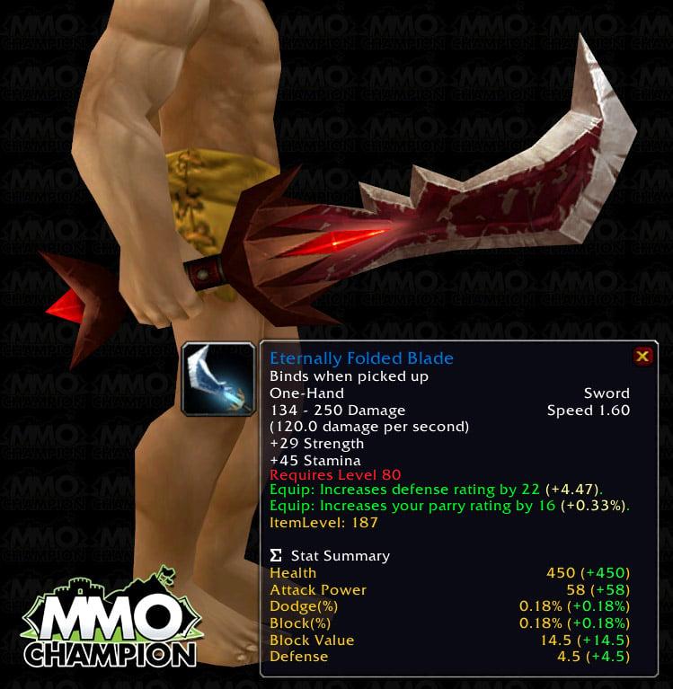 Eternal Champions Blade Eternally Folded Blade