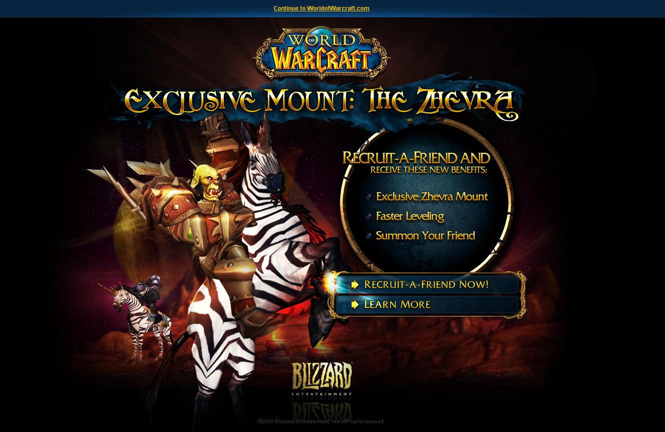 Recruit a friend and get a Zhevra Mount !