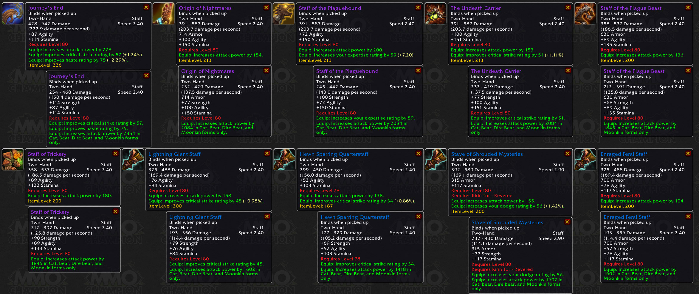 Feral Attack Power on weapons