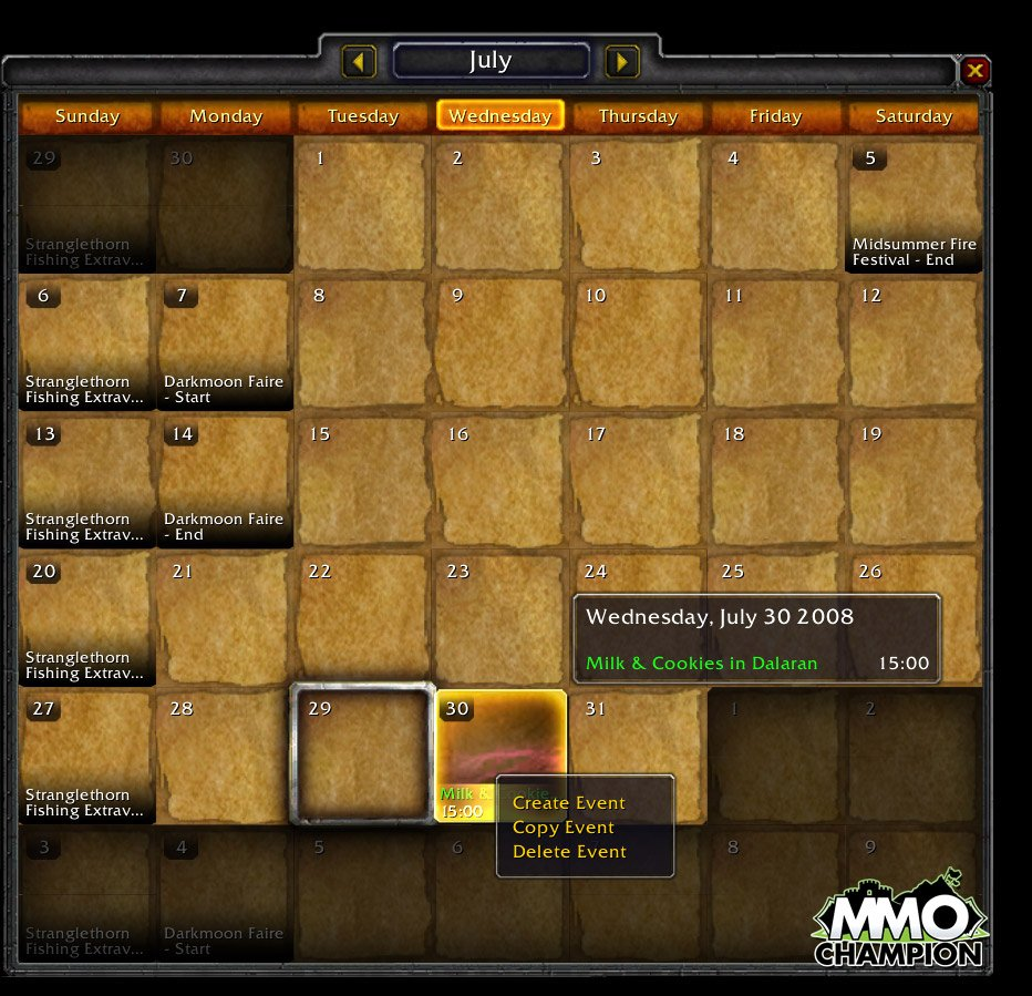 Wow Calendrier.Hyjal Explorers Consulter Le Sujet Calendrier Ig