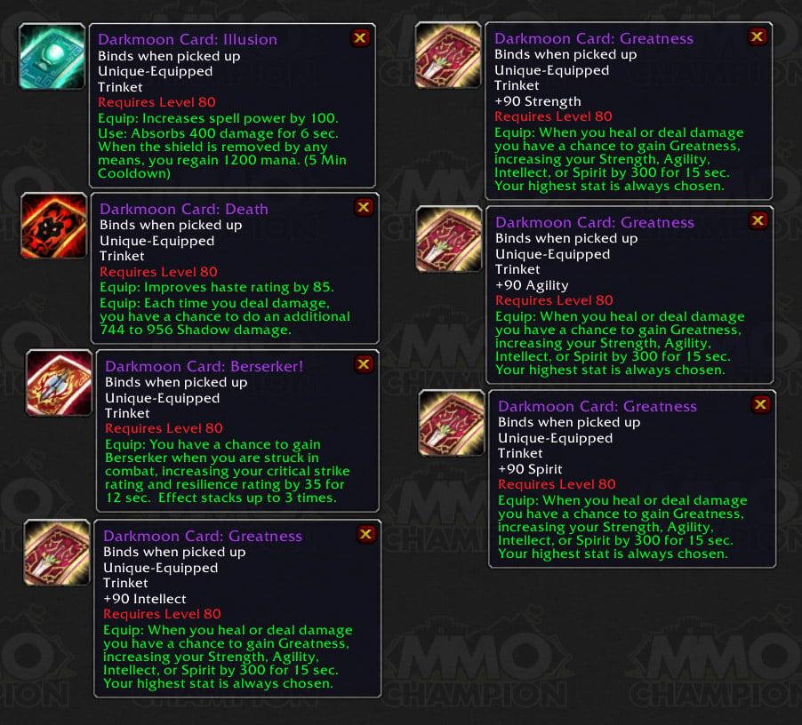Darkmoon Faire, Dual Spec, WoWProgress