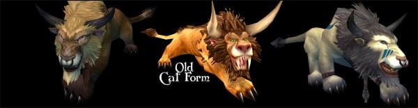 Druid Forms - Night Elf Cat & Color Associations