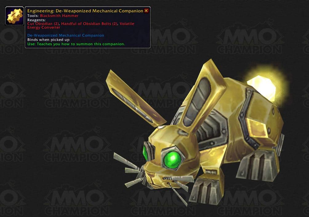 de weaponized mechanical companion spell world  warcraft