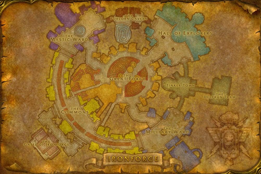 Ironforge mmo champion world map cataclysm gumiabroncs Choice Image