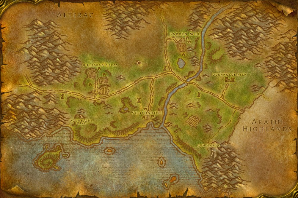 Retro hillsbrad foothills map i made from vanilla maps wow heres the vanilla map for comparison gumiabroncs Choice Image