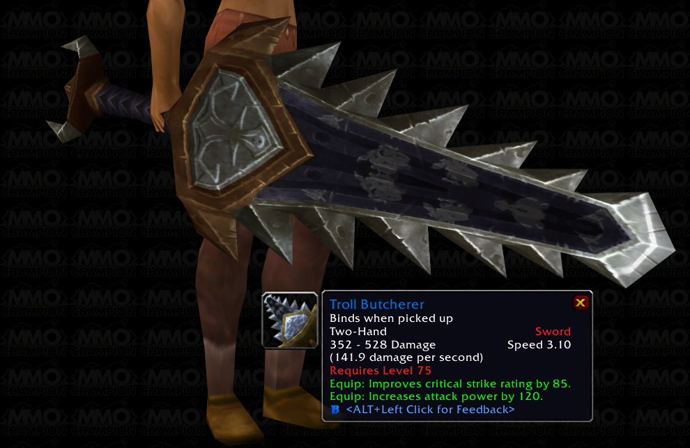 Both Are Good But Not Quite Better And That Is Up To 75 Now Where These Items Will Change A BC Geared Warrior With TG If They Ever Get Fixed